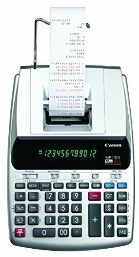 Canon MP11DX-2 Desktop Printing Calculator with Currency + Clock and Calendar 1